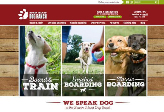 Custom WordPress theme for Bowen Island Dog Ranch
