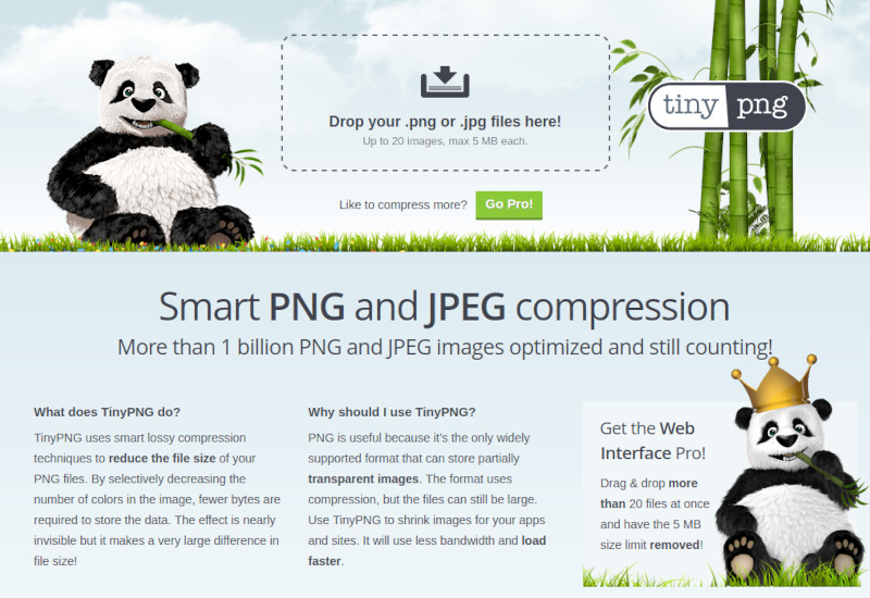 Make WordPress faster with image compression (tinypng.com)